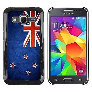 TopCaseStore / la caja del caucho duro de la cubierta de protección de la piel - New Zealand Grunge Flag - Samsung Galaxy Core Prime SM-G360