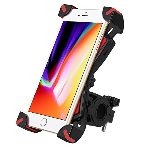 Puroma Universal Bike Phone Mount, 360 Degrees Rotatable Adj