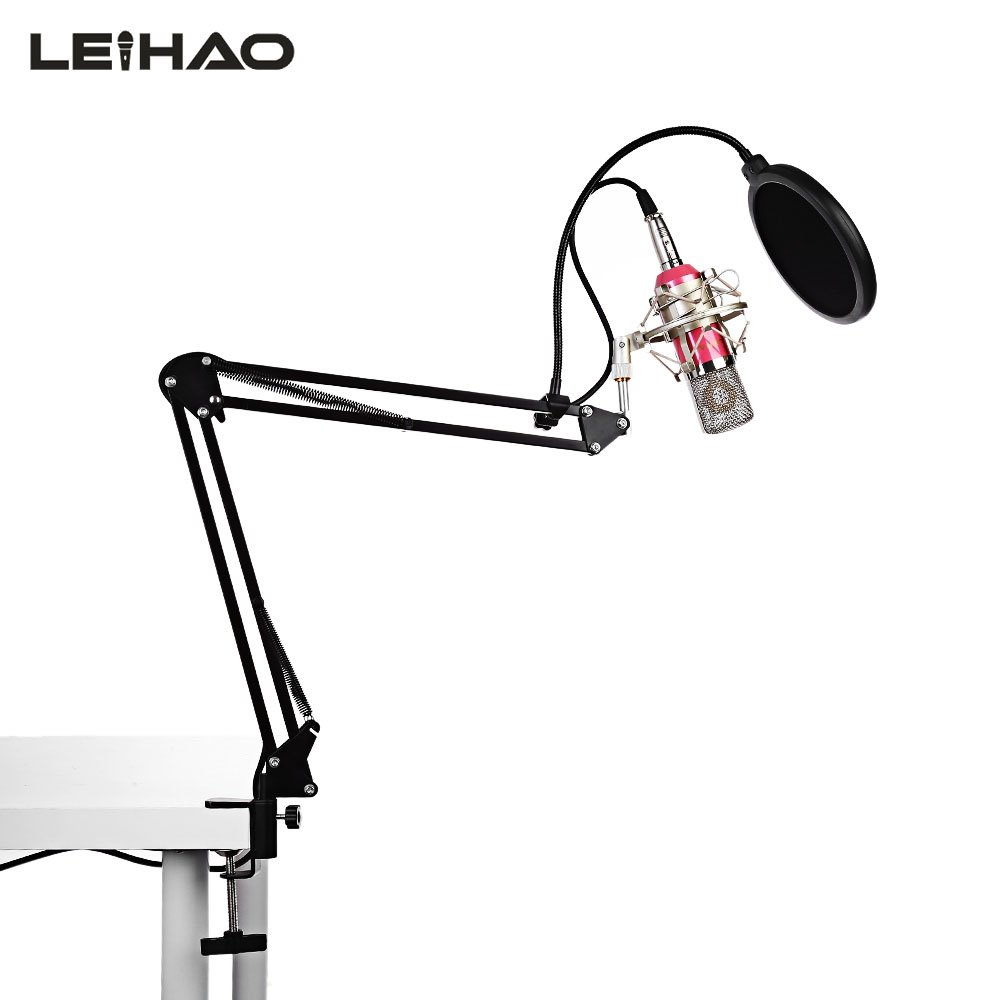 Condenser microphone combination phone kong microphone combination anchor live computer microphone set with bracket pink