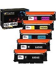 Cartlee 5 Compatible Toner Cartridges Replacement for Samsung CLT-K404S CLT-C404S CLT-M404S CLT-Y404S (2 Black, 1 Each Color) 404s 404 Xpress SL-C430W SL-C480FW SL-C480W c430 y404 k404 c480 Express