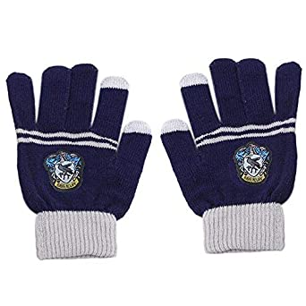 e14d968f3 HARRY POTTER TOUCH SCREEN SOFT MAGIC GLOVES FOR CHILDREN KIDS AGES 5-13  GRYFFINDOR, SLYTHERIN, RAVENCLAW, HUFFLEPUFF (BLUE): Amazon.co.uk: Clothing
