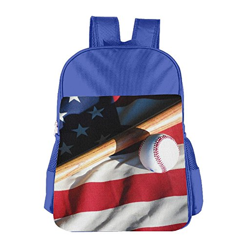 Kid's Baseball USA America Flag School Backpack Bookbag For Boys & Girls Aged ()