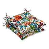 Pillow Perfect Outdoor/Indoor Lensing Jungle Wrought Iron Seat Cushion (Set of 2)