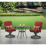 Better Homes and Gardens Dawn Hill 3 piece Cafe Set Aluminum frame