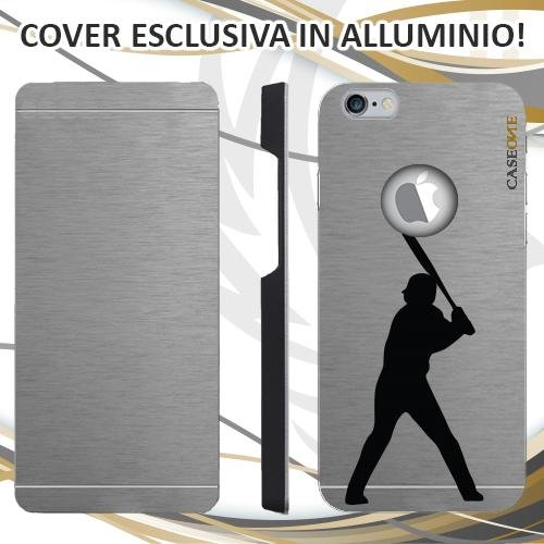 CUSTODIA COVER CASE SPORT BASEBALL PER IPHONE 6 ALLUMINIO TRASPARENTE