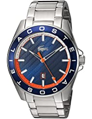 Lacoste Mens WESTPORT Quartz Stainless Steel Casual Watch, Color:Silver-Toned (Model: 2010886)