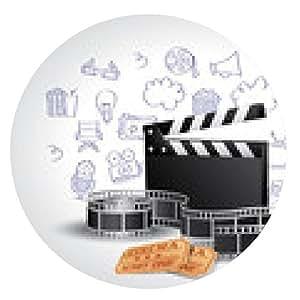 alfombrilla de ratón Elementos de la película realistas con Doodle - ronda - 20cm
