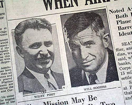 Amazon com: Humorist WILL ROGERS & Aviator Wiley Post