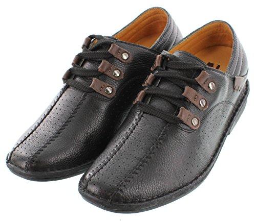Toto-x58411-6,6cm Grande Taille-Hauteur Augmenter Chaussures ascenseur (en cuir noir à lacets)