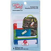 Mabels Labels Write Away Bag Tags 6 Pack,  2.75 x 1.2, Attach