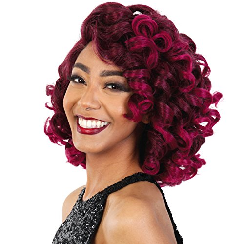 [Royal Sis Synthetic Hair Wig Diva Collection Pre Tweezed Part Diva H Miro (SOM FUCHSIA)] (Divas Wigs)