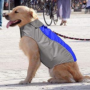 BSEEN Waterproof Dog Coat, Soft Fleece Lined Reflective Dog Jacket for Winter, Outdoor Sports Pet Vest Snowsuit Apparel, S-XXXL