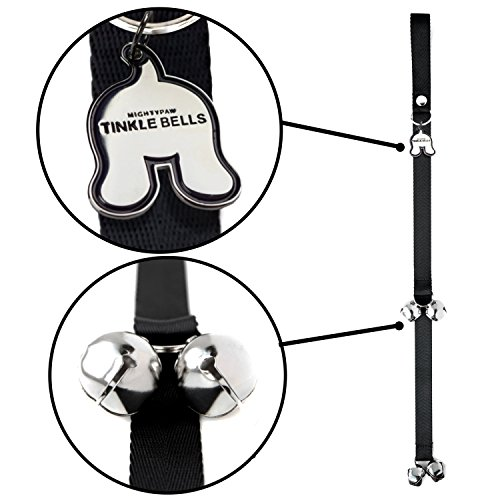 (Mighty Paw Tinkle Bells, Premium Quality Dog Doorbells, Housetraining Doggy Door Bells for Potty Training, Includes Free Wall Hook)