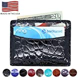 Genuine Alligator Front Pocket Wallets for Men and Women – American Factory Direct - Made in USA by Real Leather Creations