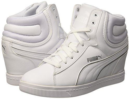 7 L Plateado 5 Sneaker Color Wedge Vikky Fs Puma Blanco x64gfTwg