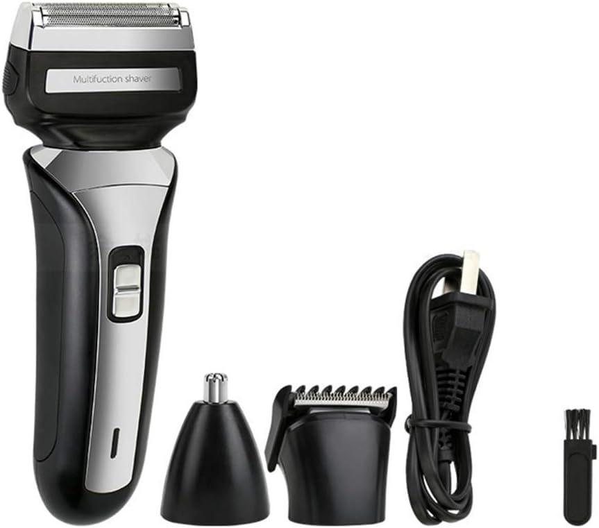 3 EN 1 Profesional Barba eléctrica Afeitadora Nariz/Oído Recortador de cabello Cuchillas resistentes al agua Batería Oído/Nariz Patillas para hombres Regalo de mujer Mojado/seco: Amazon.es: Salud y cuidado personal