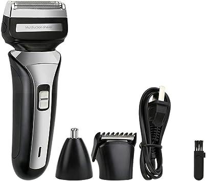 3 EN 1 Profesional Barba eléctrica Afeitadora Nariz/Oído Recortador ...