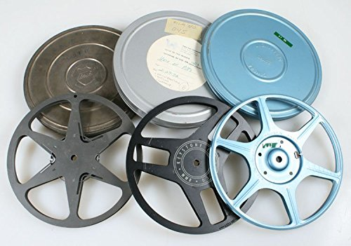 8MM ART DECO MOVIE REELS & CANS , SET OF 3 from Unknown