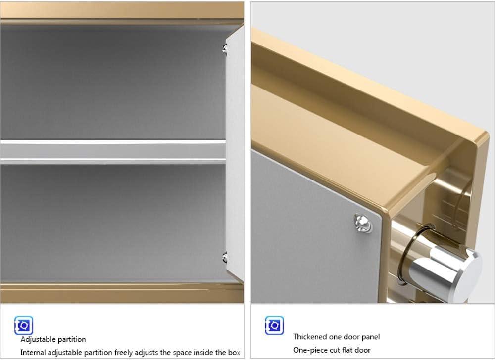 Yughb 30cm Caja Fuerte, Dinero seguro, Combinación de la cerradura ...