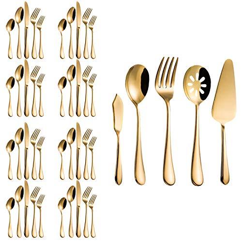 gold utensil set