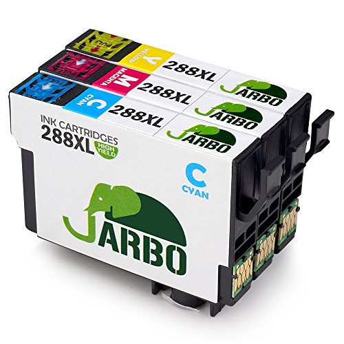 JARBO 3 Colors Replacement for Epson 288XL Ink Cartridges High Capacity, 3 Packs (1 Cyan 1 Magenta 1 Yellow), Used in Epson Expression Home XP-330 XP-430 XP-434 Printer
