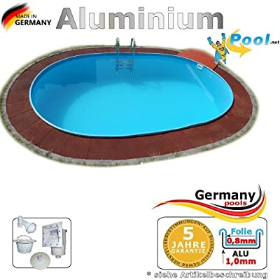 Aluminio Pool 6, 10 x 3, 60 x 1, 25 ovalado Piscina aluminio Piscina 6, 1 x 3, 6 x 1, 2 ovalado Platillos aluminio Pool fertigpool ovalado Pool aluminio Platillos pantalla empotrable para piscina Piscina Jardín Piscina Pool Set: Amazon.es: Jardín