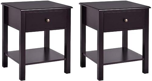 Casart End Table Wood Nightstand Storage Display Bedroom Furniture