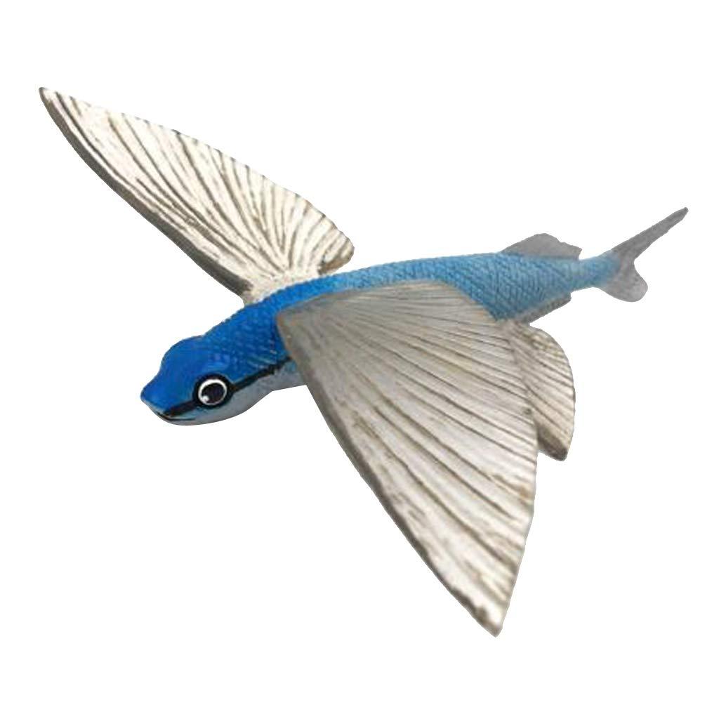 Pez Volador PETSOLA Adorno Figuras Animales Modelo Juguetes de Acci/ón Accesorios de Cortac/éspedes Jard/ínes Exterior