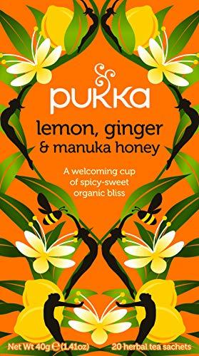 Organic Lemon Ginger and Manuka Honey Tea