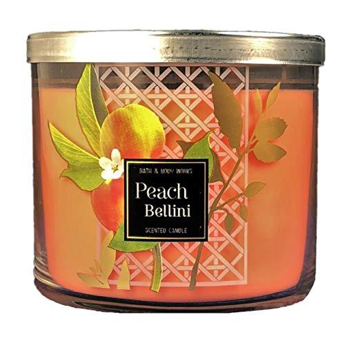 Bath and Body Works 3-Wick Scented Candle in Peach Bellini 14.5 - Bath Peach
