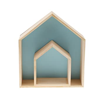 Magideal Haus Form Wandregal Lager Regale Holz Diy Zum Hängen