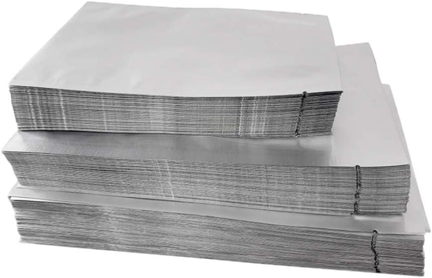 Hemoton 100 unids Silver Mylar Bolsas Planas de Aluminio Bolsa de Embalaje Bolsa de Almacenamiento de Alimentos a Granel 8x12