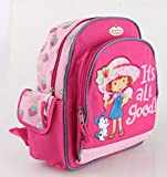 "Small Backpack - Strawberry Shortcake - w/Water Bottle 12"" New 333192"