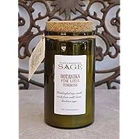 Organic Sage Botanika Pink Lotus & Tuberose Soy Candle FREE Shipping purchases over $35