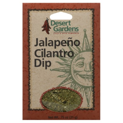 Cilantro Dip Mix (Desert Gardens Dip Mix Jalapeno & Cilantro, 0.75-Ounce (Pack of 12))