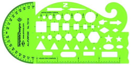 Alvin TD116 All Purpose Template