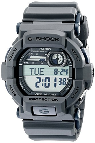 Casio Men's G-Shock GD350-8 Grey Resin Sport Watch 2nd Time Zone Black Dial