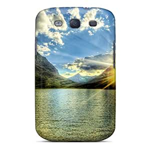 High-end Case Cover Protector For Galaxy S3(nature Rivers Lakes And Swamps Lake At Dawn)