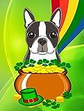 Caroline's Treasures BB1947GF Boston Terrier St. Patrick's Day Garden Flag, Small, Multicolor For Sale