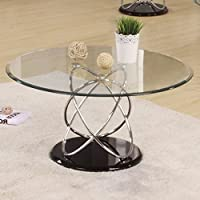 ACME Deron Chrome and Glass Coffee Table