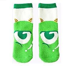 Beauty Nymph 2pairs Girls and Boys Cartoon Eyes Cotton Towel Socks (M:(4-6years), Tiny Eyes)