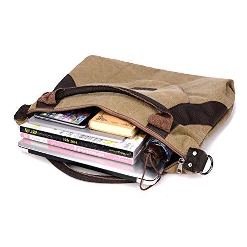 SQLP Handtaschen Damen Grau Große Kapazität Canvas Taschen Arbeit Umhängetasche Schultertaschen für Schule Elegant Shopper Tasche Henkeltasche Beuteltasche Weich Damentasche Rotwein