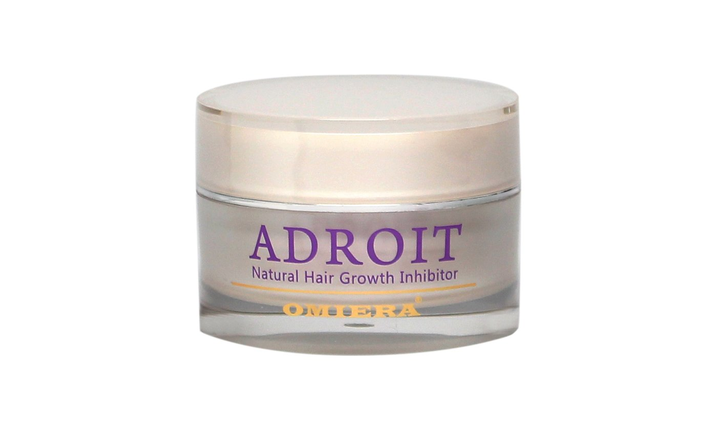 Omiera Labs Adroit - Unwanted Facial Hair Growth Inhibitor. Minimizes Growth of Unwanted Facial, Bikini, & Body Hair while Preventing Breakouts After Waxing, Shaving, and Hair Removal Cream(0.2 fl. oz.) 2-4X-Q35Y-PZSK