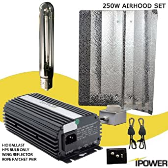 iPower 250w Hps High Pressure Sodium Electronic Digital Grow Lights System with Timer (120v/240v)