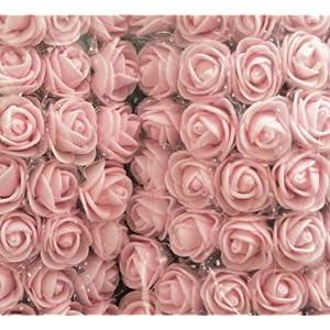 FGRYB Mini Artificial Rose Flower,144Pcs 2.5cm PE Foam Simulation Flowers for Wedding Bride Bouquet DIY Art Craft Party Home Ceremony Decoration 47