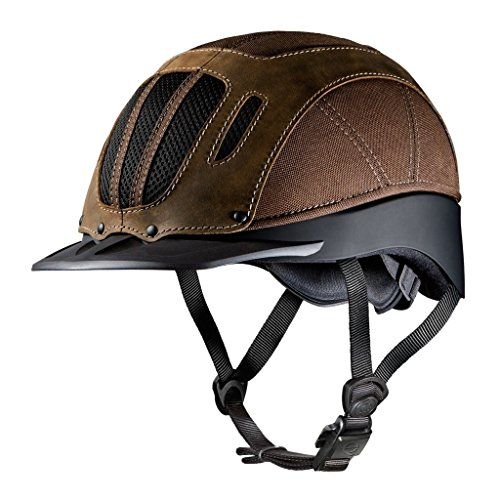 Troxel Sierra Western Equestrian Helmet SEI/ASTM Certification and Sizes (Brown, Large) ()