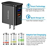 Adaptive Fast Charging USB Charger, Amoner 25W Dual