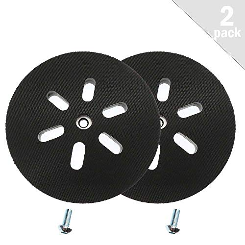 RS6045 Sander Backing Pad for BOSCH Replacement Part Hook and Loop Soft Sanding Pad 6inch 1250DEVS 3727DEVS ROS65VC Pack of 2