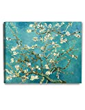 """DecorArts - Almond Blossom Tree, by Vincent Van Gogh. The Classic Arts Reproduction. Giclee Print On Canvas, Stretched Canvas Gallery Wrapped. 30x24"""""""