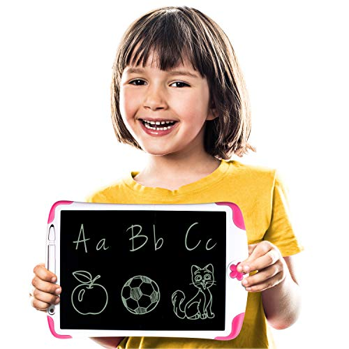 Simicore 8.5 inch Smart LCD Writing Tablet - Gift for Kids Writing Tablet Doodle Drawing Board with Erase Button and Screen Lock (Pink)